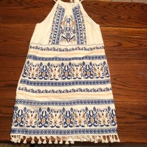 Skies Are Blue Embroidered BoHo Sundress